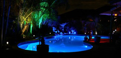 Pool Lighting and Landscaping Ideas